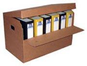 Szállítható irattároló doboz, lenyitható ablakkal
