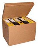 Szállítható irattároló doboz, közepes